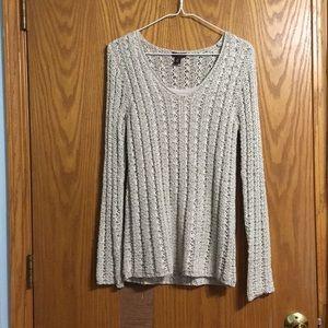 Dana Buchman Beige Long Sleeve Sweater